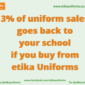 etika Uniforms 3% of sales go to UK primary schools image